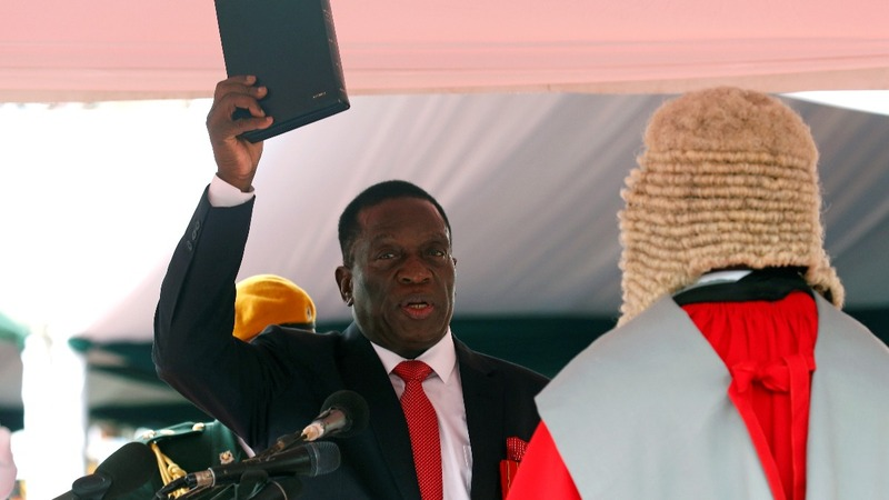 Mnangagwa sworn in as Zimbabwe's new President