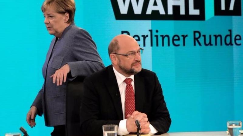 German edges toward new grand coalition
