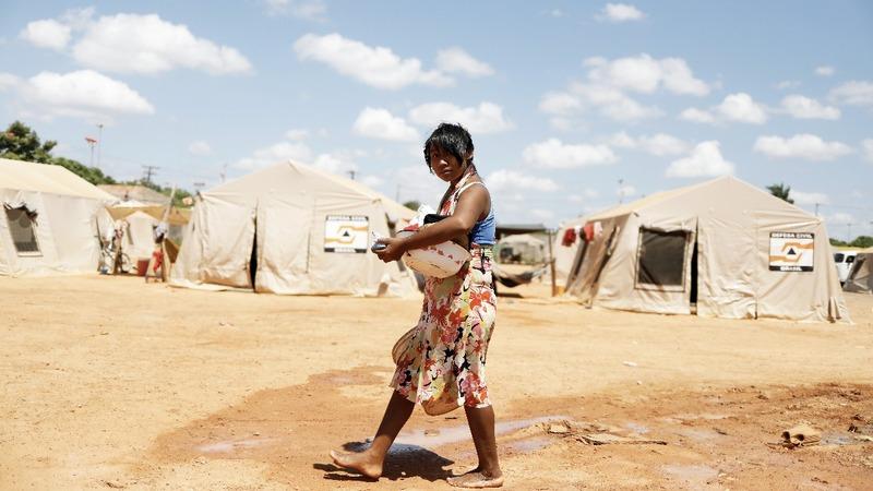 Venezuela's indigenous Warao camp in Brazil