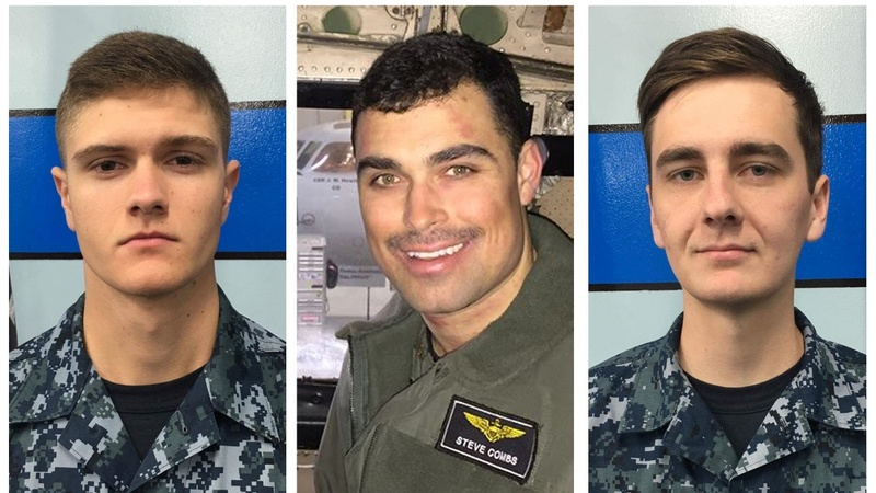 Navy names three missing sailors after Pacific plane crash