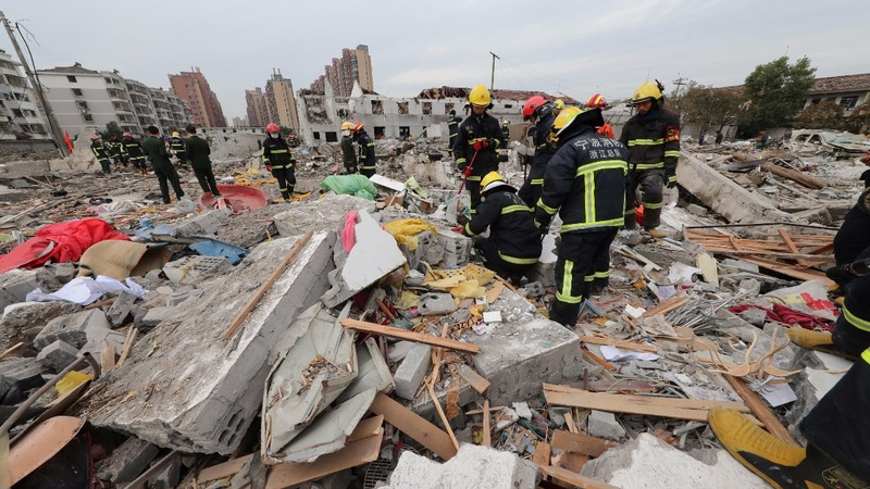 Huge explosion in China kills two