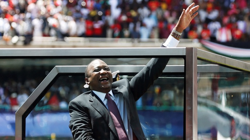 Kenyatta inaugurated as president of a divided Kenya