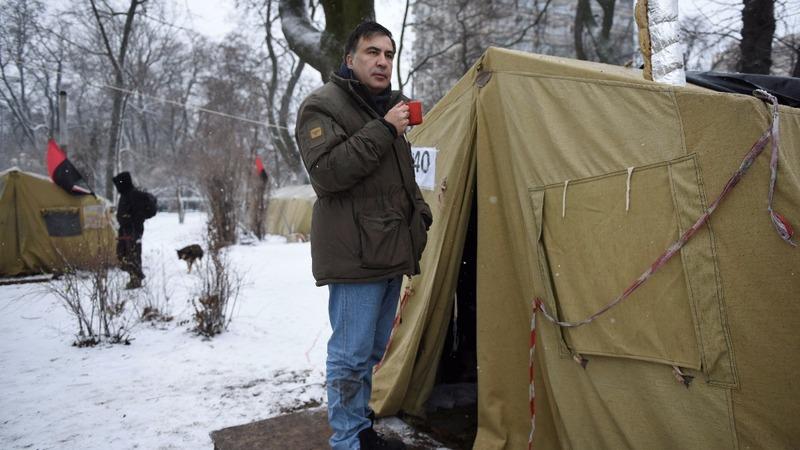Georgia's former president evades Ukrainian police