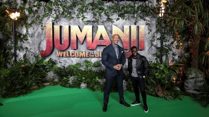 VERBATIM: 'Jumanji' cast threaten the Rock's star