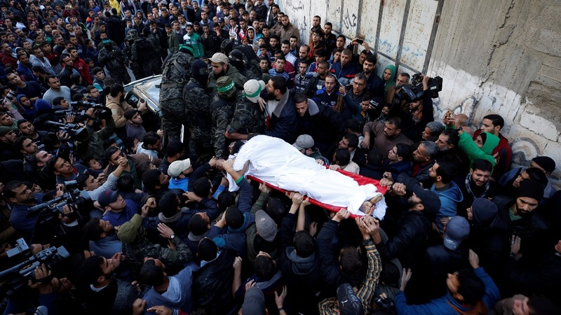 Hamas holds funerals for slain gunmen