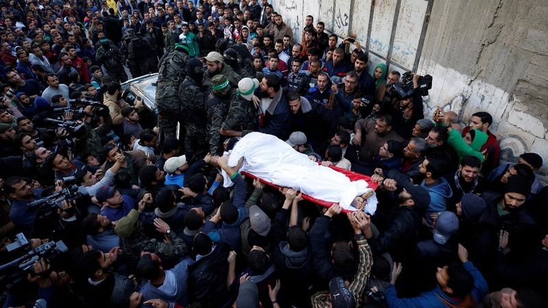 Hamas holds funerals for slain gunmen