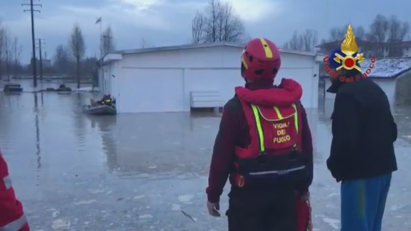 INSIGHT: Heavy rain triggers flooding in northern Italy