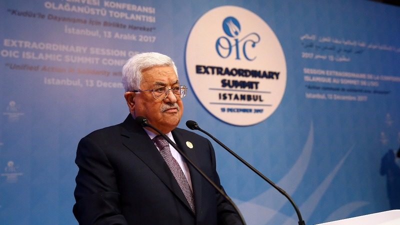 Abbas: Trump's Jerusalem move prevents U.S. peace role