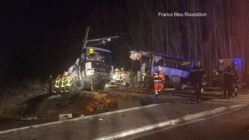 Train collision in France kills at least four teenagers
