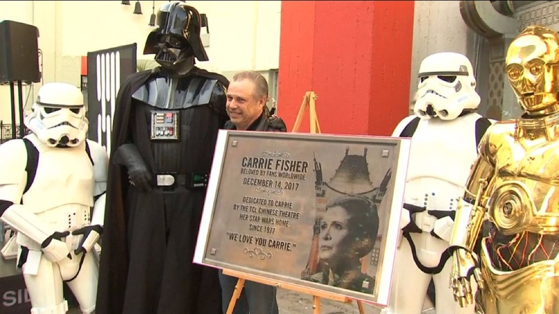 INSIGHT: Carrie Fisher honored with Hollywood plaque
