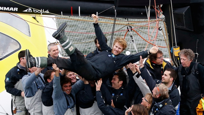 Frenchman sets round-the-world sailing record