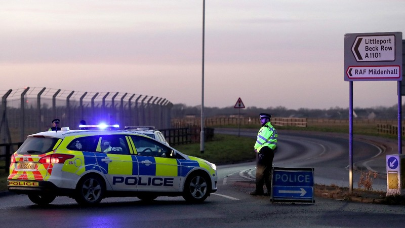 Shots fired at U.S. airbase in Britain