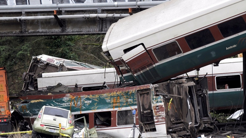 Speed may be a factor in fatal Washington derailment