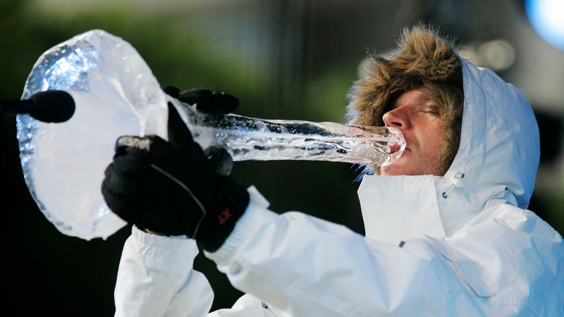 Cool tunes: The musician using ice to send a message