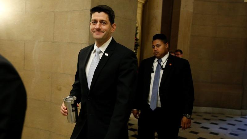Republicans celebrate passage of landmark tax bill