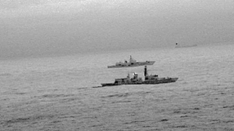 British navy trails Russian warship in North Sea