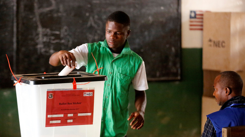 Liberians head to the polls in historic election