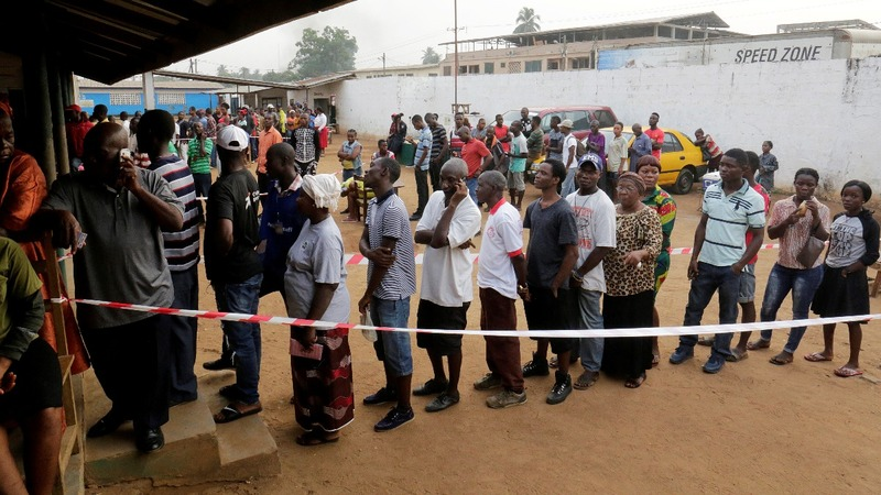 Liberians await outcome of historic election