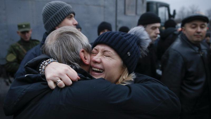 Ukraine and pro-Russian rebels swap prisoners