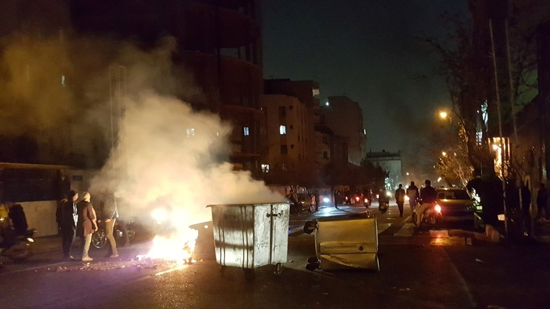 Protests hit Iran for a third straight day