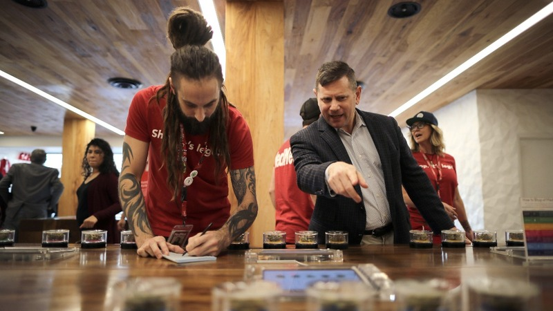 Californians line up at sleek, new weed dispensaries