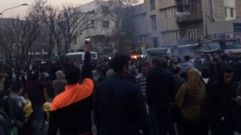 U.S. watches Iran protests with sanctions in mind