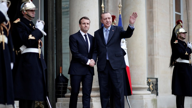 Turkey's president gets a mixed welcome in France