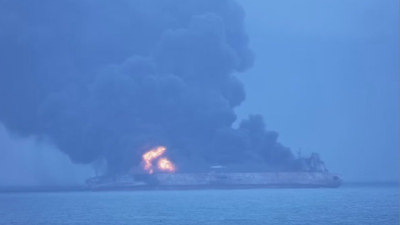 32 missing after Iranian oil tanker crash