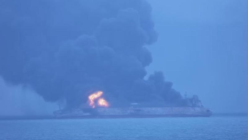 32 missing after Iranian oil tanker crash