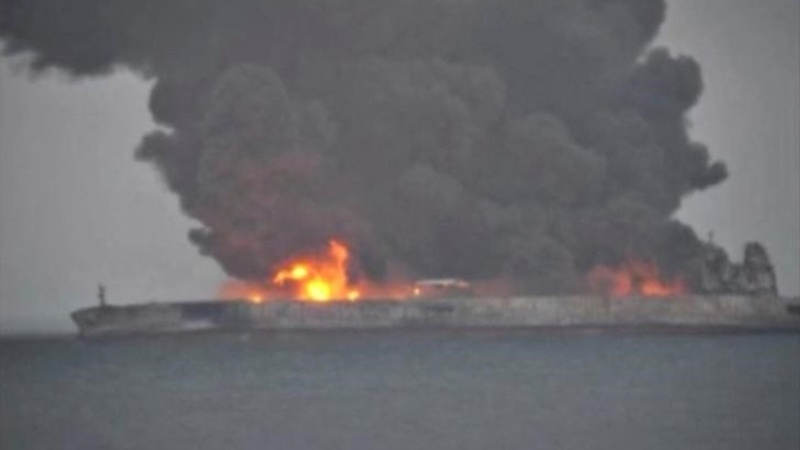 Rescue crews wrestle with China oil tanker fire