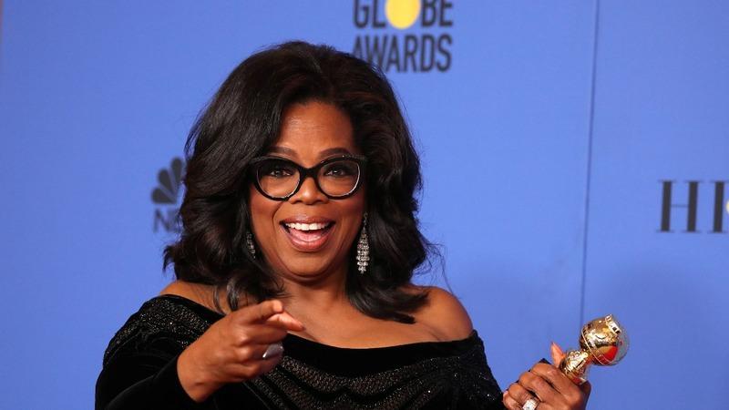 Winfrey's rousing Globes speech sparks 2020 talk