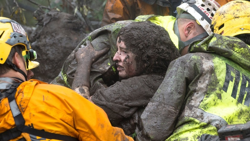 At least eight dead in California flooding, mudslides