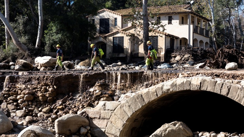 Rescuers look for survivors in deadly California mudslides