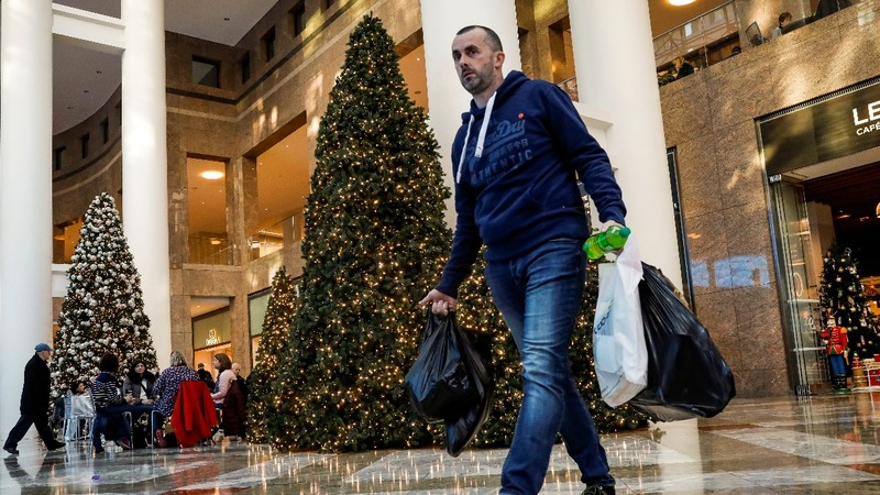 U.S. holiday spending surges to 12-year high