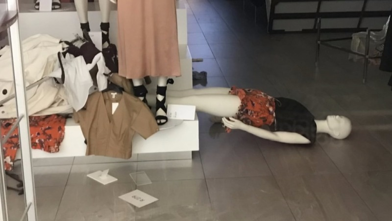 Protesters ransack H&M stores over 'racist' advert