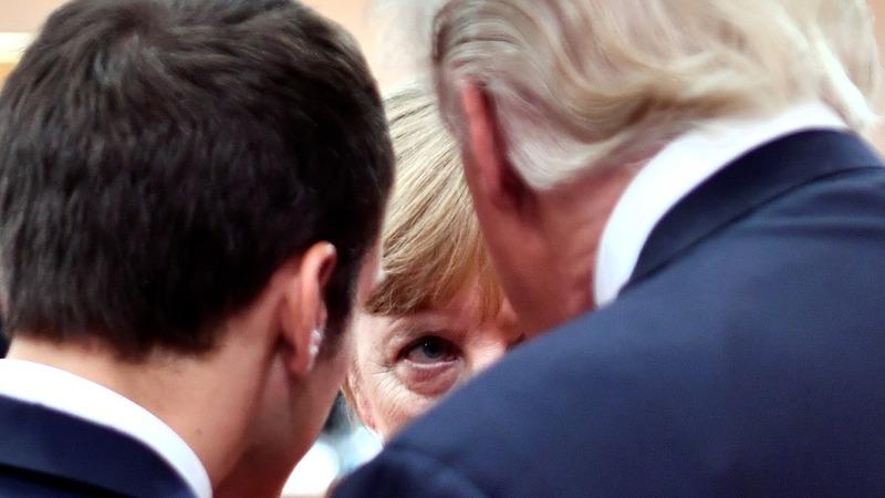 Merkel may join Macron in epic Davos Trump clash