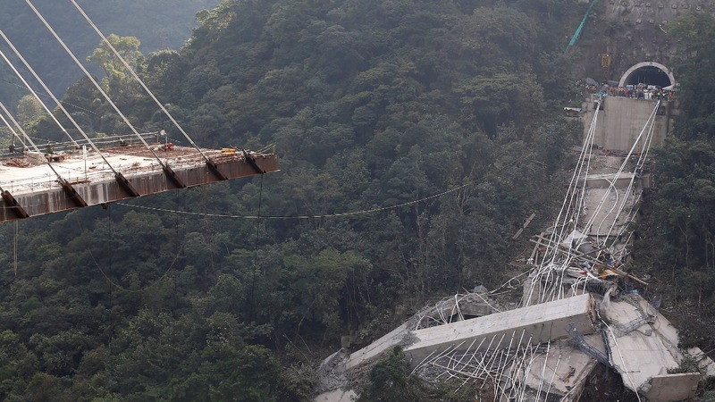 INSIGHT: Bridge collapses in Colombia