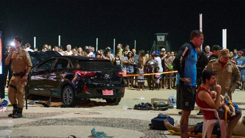 Car plows through Brazil's Copacabana, killing infant