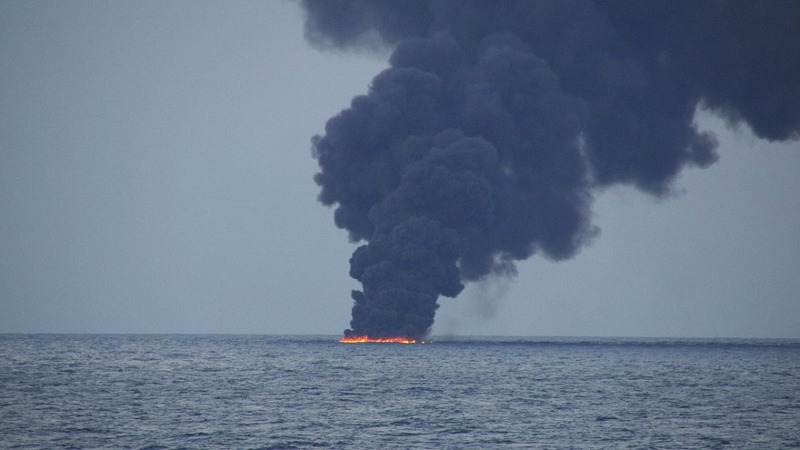 Sunken tanker could be leaking heavy oil - China