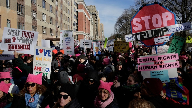 Women's March 2.0 draws on Trump opposition