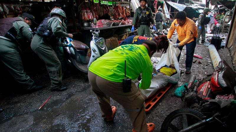 At least three dead in Thai market bombing