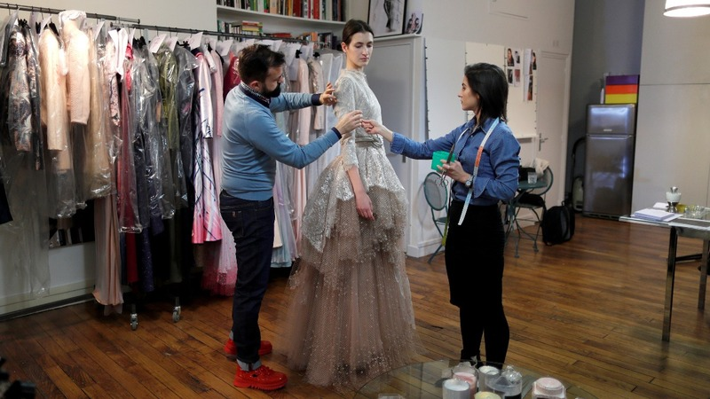 Couture designer melds tradition and technology