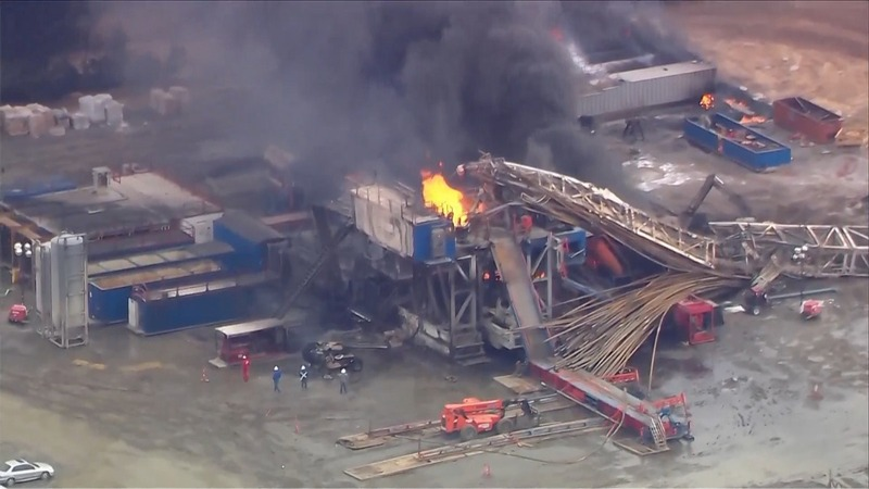 Five missing in explosion at Oklahoma drilling site