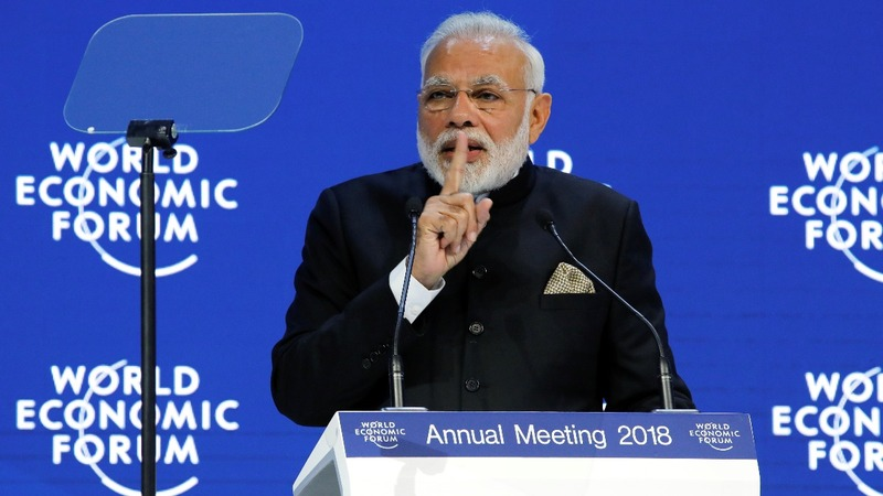 India's Modi mounts globalization defense at Davos