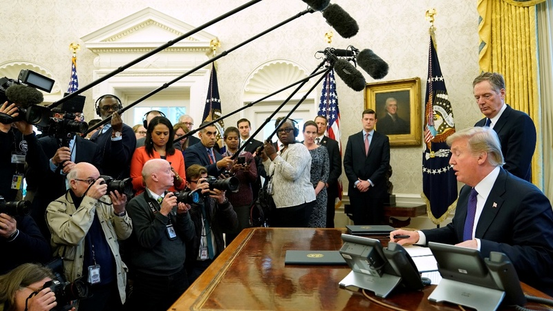 VERBATIM: Trump signs order on washing machines, solar products