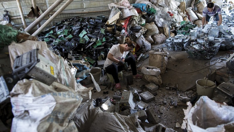 Dirty past: China's import ban cleans up trash towns