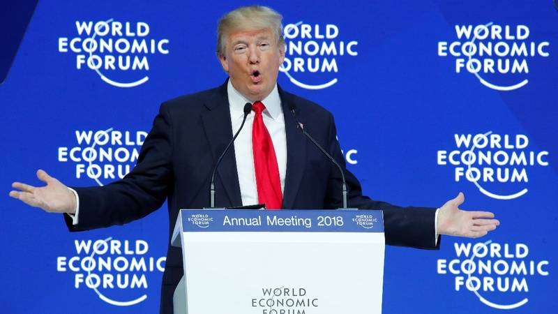 Trump at Davos says U.S. 'open for business'
