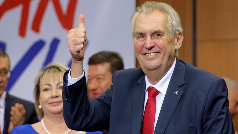 Incumbent Czech president wins a second term