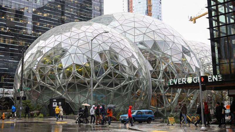 Amazon opens a 'rainforest office' in Seattle