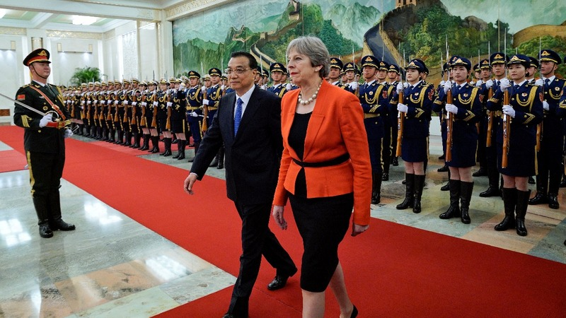 Theresa May hunts for post-Brexit trade in China